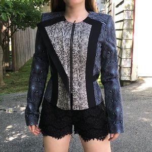 BCBGMaxAzria printed structured jacket